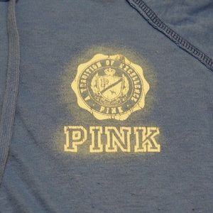 PINK Victoria's Secret Tops - Victoria's Secret PINK Blue Zip Up Hoodie Pockets